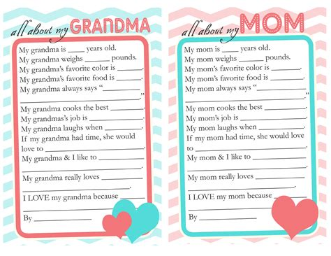 s day questionnaire free printable the