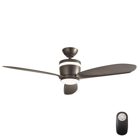 matte black ceiling fan home decorators collection federigo 48 in led indoor