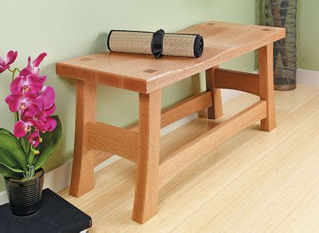 classic entry bench woodsmith plans