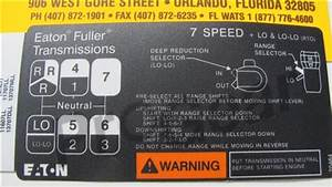 7 Speed Ll Overdrive Shift Pattern Diagram  Eaton Fuller