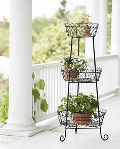 Decorative, Round, Metal, Plant, Stand, 47, U0026quot, Tall