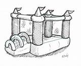 Bouncy Bounce Castle Clipart Drawing Colouring Castles Clipground Paintingvalley Drawings Doodle sketch template