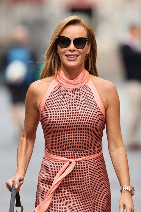 Since 2007, she has judged on the television talent show competition britain's got talent on itv. Amanda Holden Wears tight dress at Heart radio in London - Celebzz - Celebzz