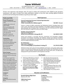 civil construction supervisor resume exles of resumes cover letter construction foreman resume civil sle throughout