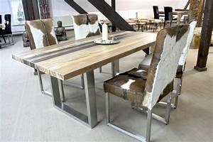 Moderne Küchen Aus Massivholz : moderner esstisch holz stahl moderner esstisch aus holz naturbelassene tischplatte und ~ Sanjose-hotels-ca.com Haus und Dekorationen