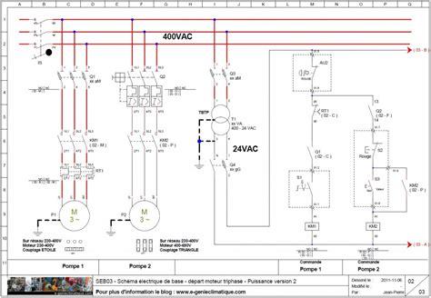 chambre froide positive seb03 schéma électrique de base départ moteur triphasé