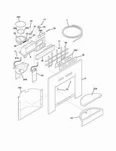 Ice  U0026 Water Dispenser Diagram  U0026 Parts List For Model E23cs78hps3 Electrolux