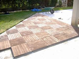 nivremcom dalle terrasse bois 100x100 diverses idees With dalle bois terrasse 100x100
