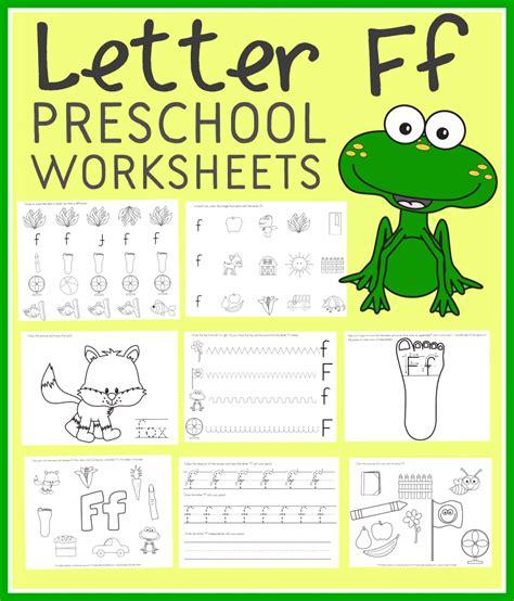 Free Letter F Preschool Worksheets (instant Download)  Free Homeschool Deals
