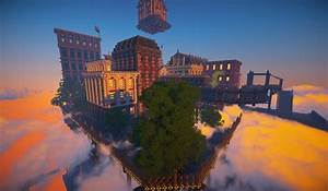 Floating Imperial Steampunk City Minecraft Project