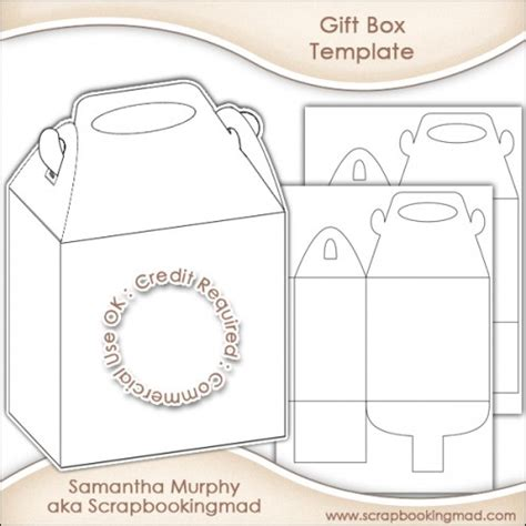 gift box template commercial