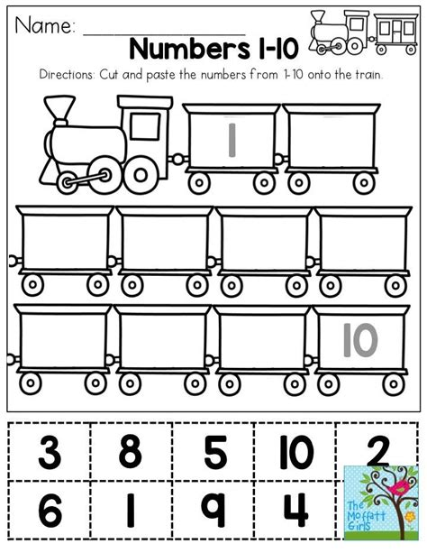 cut and paste numbers 1 10 you could use this as a one 584 | cef8669662160bb9d38f389df5eaa33c preschool classroom in the classroom