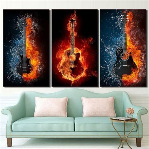 Free fire working redeem code for indian region (may 18th): Fire And Water Guitars | Painting, Cross paintings, Room ...