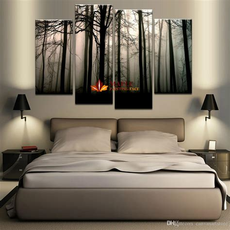 2018 4 Panel Large Canvas Art Modern Abstract Hd Canvas
