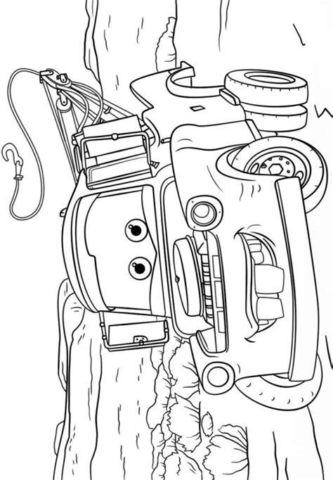 Cars Kleurplaat 3 by N Kleurplaat Cars 3 Tow Mater