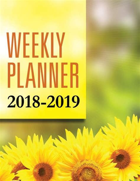 barnes and noble planners weekly planner 2018 2019 by speedy publishing llc