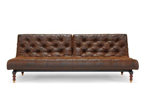 canape chesterfield vintage oldschool sofa bed vintage look