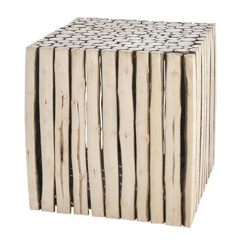 bout de canapé en bois bout de canapé en bois l 38 cm rivage maisons du monde