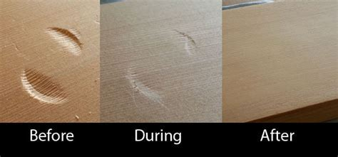 How to remove a dent from wood