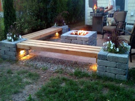 pit patios patio with pit bench ideas