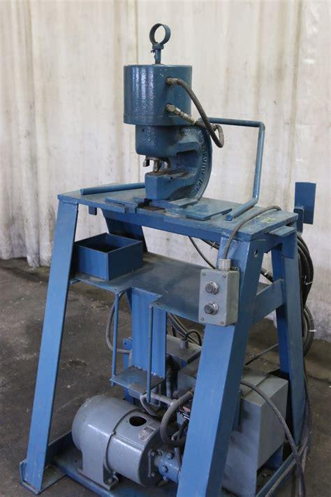 ton wa whitney hydraulic  frame flange punch power