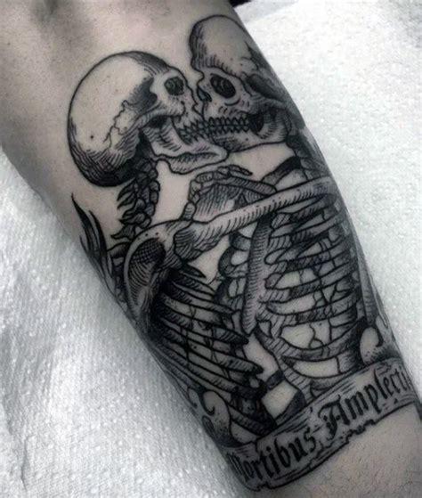 skeleton tattoos  men spine tingling  life