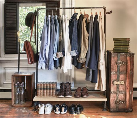 Rack Closet by 13 Ways To Make Your Room Without A Closet Work