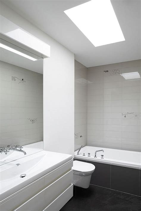 Modern Bathroom Grey And White by Modern Semi Minimalist Residence Wrapped In Wood