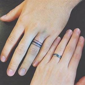 50 cool wedding ring tattoos to express their undying love With tattoo wedding rings