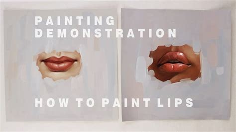 Oil Painting Demonstration #2  How To Paint Lips Youtube