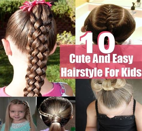 easy to do hairstyles for kids step by step easy