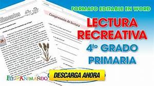 Lectura recreativa 4to grado primaria Material para maestros, Planeaciones, exámenes, material