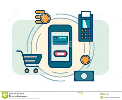 Contactless Mobile Payment by Contactless Mobile Payment Stock Vector Illustration Of