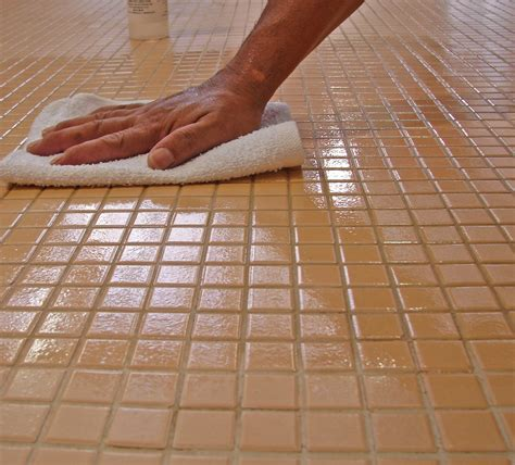 how to ceramic tile without wax written in