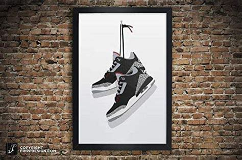 Browse our selection of air jordan art prints and find the perfect design for you—created by our community of independent artists. Amazon.com: Air Jordan 3 Vintage Hanging Kicks Sneaker Wall Art Illustration in Various Sizes ...