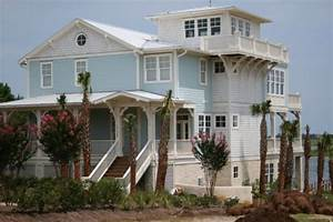 beautiful inspiring beach style homes With light blue paint for tropical home design