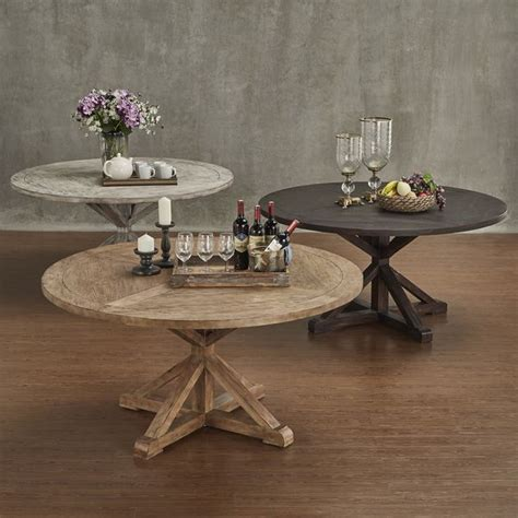 benchwright rustic  base  pine wood dining table