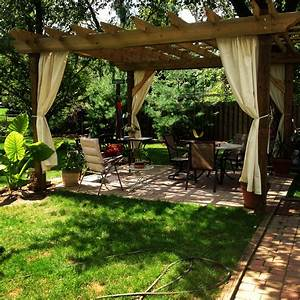 tips to building your own beautiful pergola old world With attractive rideau pour pergola exterieur 3 pergola fixe et jardin dhiver