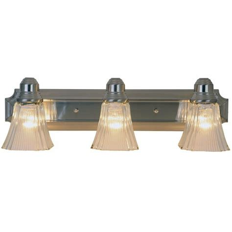 Bathroom Vanity Light Fixture by Monument Lighting Brushed Nickel 3 Light Wall Mount 24