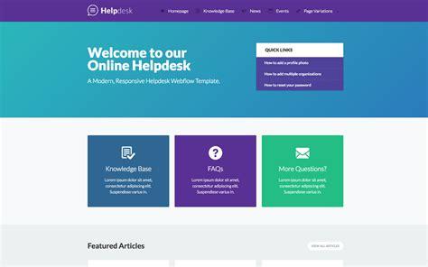 website design help helpdesk documentation html5 responsive website template