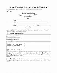wedding photography and videography contract legal forms With wedding videography contract template