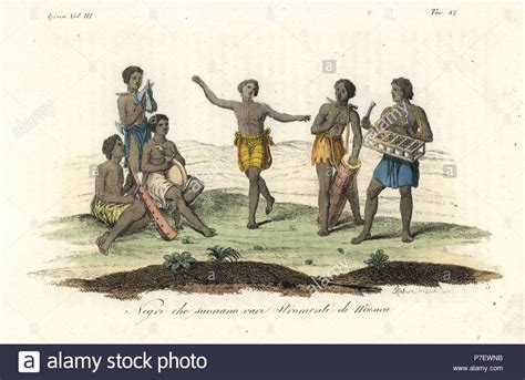 Natives Of The Kingdom Of Kongo (congo) Playing Various