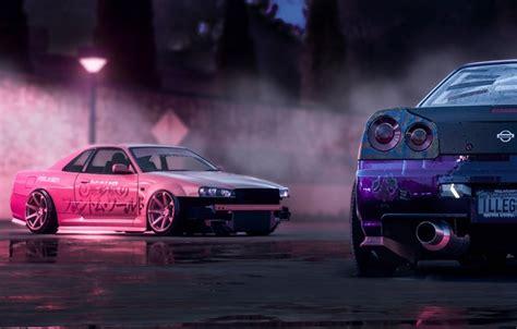 Free Cars Wallpapers Downloads Pink by Wallpaper Pink Nissan Drift Car Purple Skyline R34