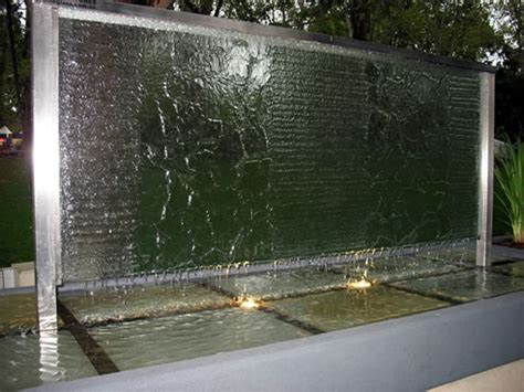 courtyard home custom slumped glass water features profile glass kilsyth