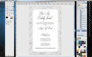 how to print wedding invitations how to make wedding invitations in gimp