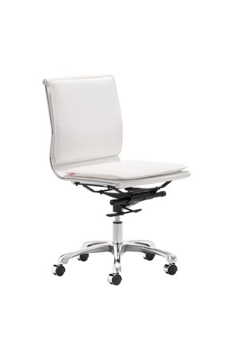 lider plus armless office chair in black or white