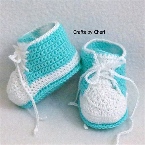 crochet baby booties you have to see cheri s crochet baby booties tennis shoe on craftsy