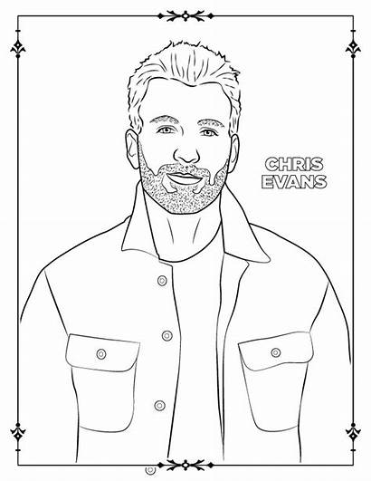 Chris Pratt Coloring Evans Awesome Coloringonly Celebrities