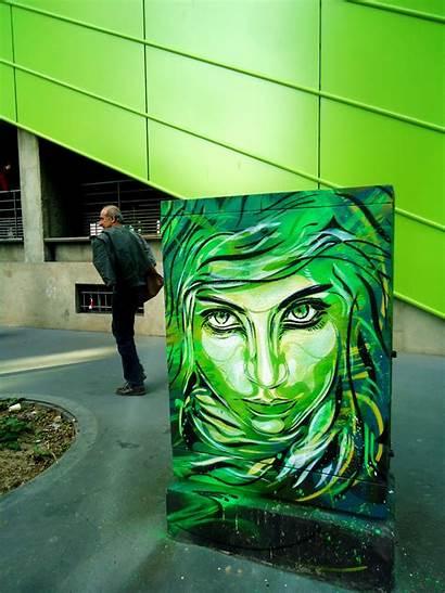 Street C215 Christian Artist Graffiti Paris France
