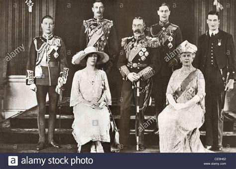 royal family  king george   england stock photo